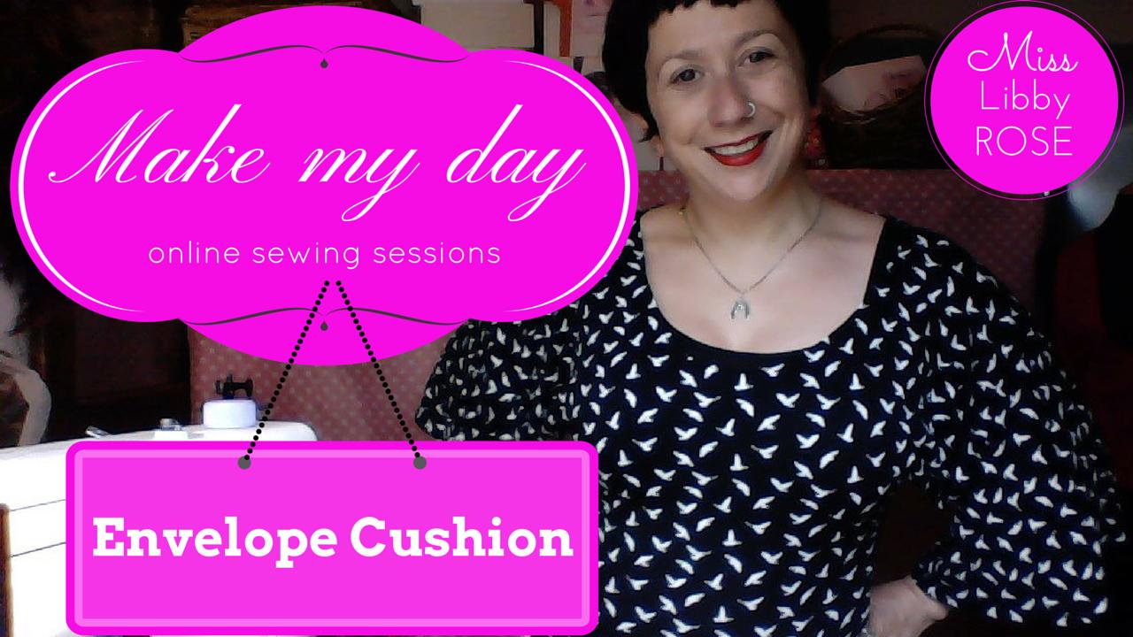 Make my day: make a strawberry envelope cushion