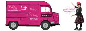 The Pink Bus Sewing Project at HobbyCraft Bristol @ Hobbycraft Bristol