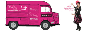 #Pinkbussewing at Hobbycraft Southampton @ Hobbycraft Southampton | West End | United Kingdom