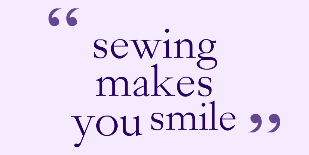 Sewing for mindfulness
