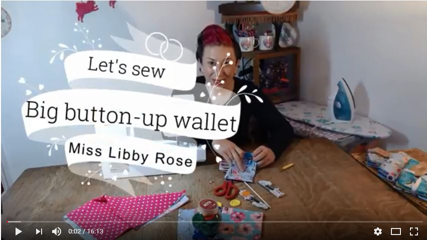 How to sew a button-up wallet!