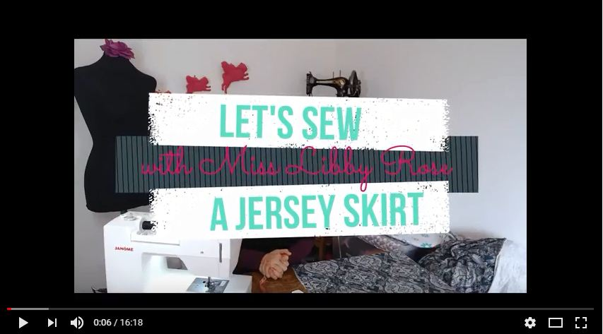 Let's sew a simple jersey skirt