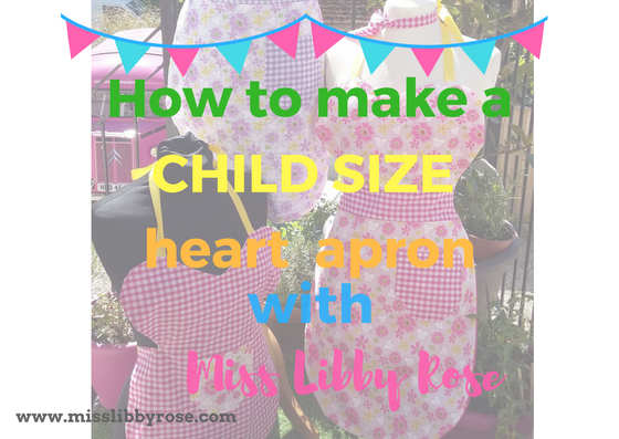 How to make a heart Apron: Kids version