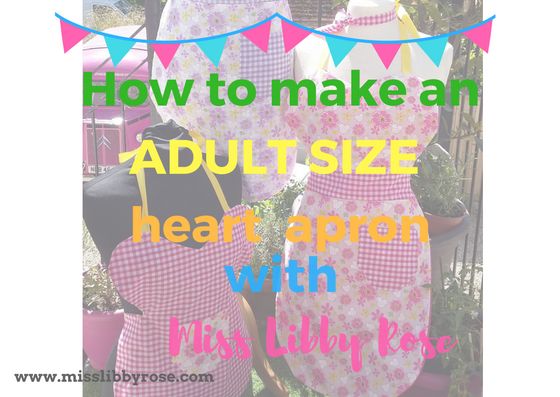 How to make a heart apron: Adults version