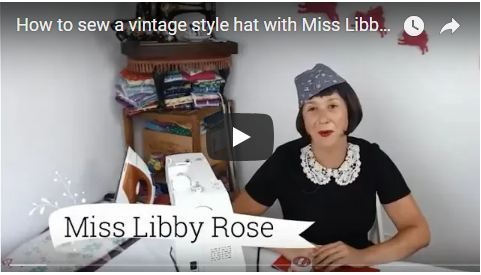 How to sew a vintage style military hat with button!
