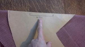 Step 2. Lay the pattern on the fold and cut around shape