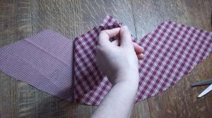 Step 3. Now you have 2 x pattern pieces cut out of fabric.
