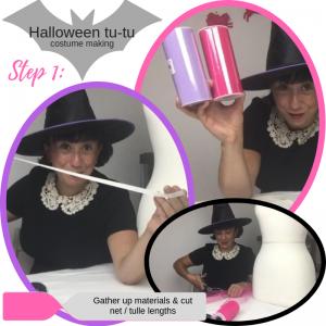 Step 1_ Halloween tu-tu